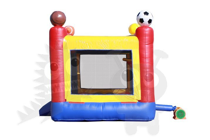 13x13 3D Sports Bounce House Jumper with Basketball Hoop Commercial Inflatable For Sale