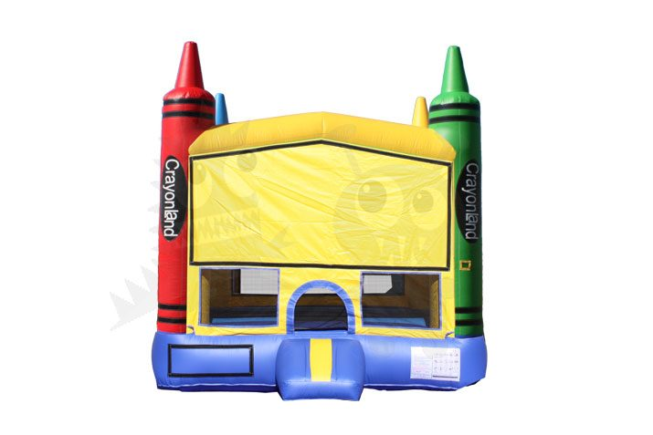 13x13 3-D Colorful Crayons Bounce House Jumper with Basketball Hoop Commercial Inflatable For Sale