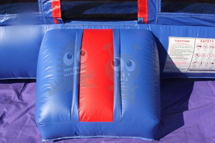 13x13 3-D Rocket Ship Bounce House Jumper with Basketball Hoop Commercial Inflatable For Sale