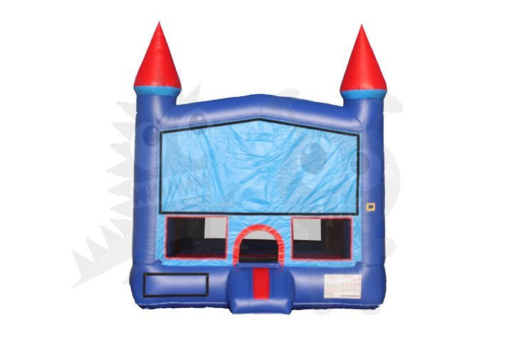 13x13 Red/Blue Castle Bounce House Jumper with Basketball Hoop Commercial Inflatable For Sale