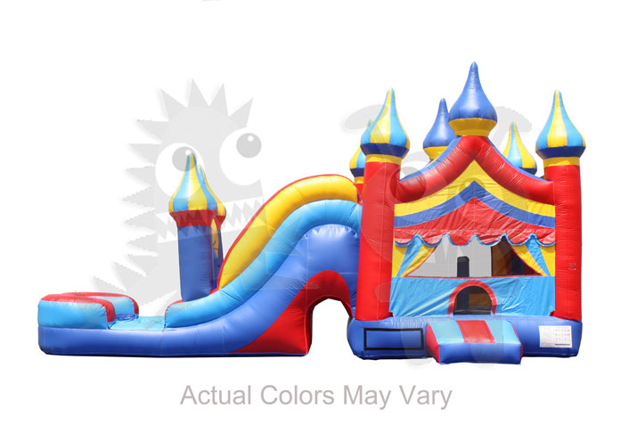 5 In 1 Carnival Castle Wet/Dry Combo Bounce House Jumper With Slide