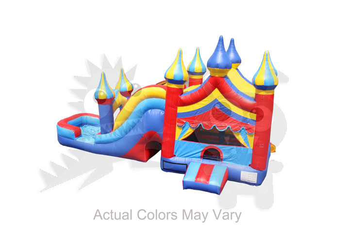 com 505 inflatable 5 in 1 big top carnival combo wet dry with water