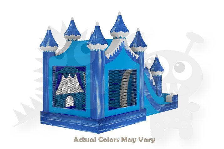 Winter Snow Carnival 5-in-1 Combo Bounce House Jumper Wet/Dry with Slide Pool and Basketball Hoop Commercial Inflatable For Sale