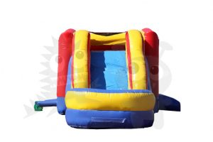 COM-550-6 Red/Yellow/Blue Bounce House Combo Jumper with Water Slide and Basketball Hoop Commercial Inflatable For Sale