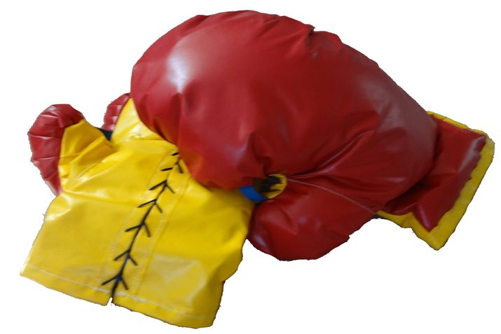 Oversized Blue or Red Pair of Boxing Gloves for Inflatable Boxing Ring