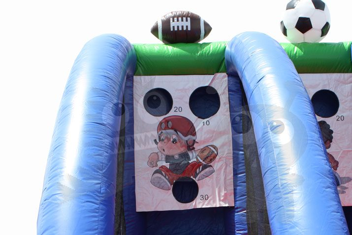 Inflatable 3-in-1 Sports Center Game with Basketball, Football, and Soccer Commercial Inflatable for Sale