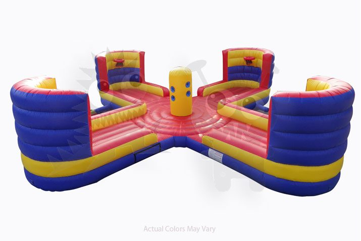Commercial Grade Inflatable 4 player Tug and Dunk Basketball Bungee Game Commercial Inflatable For Sale