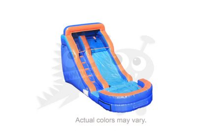 14' Orange & Blue Wet/Dry Slide Single Lane Commercial Inflatable For Sale
