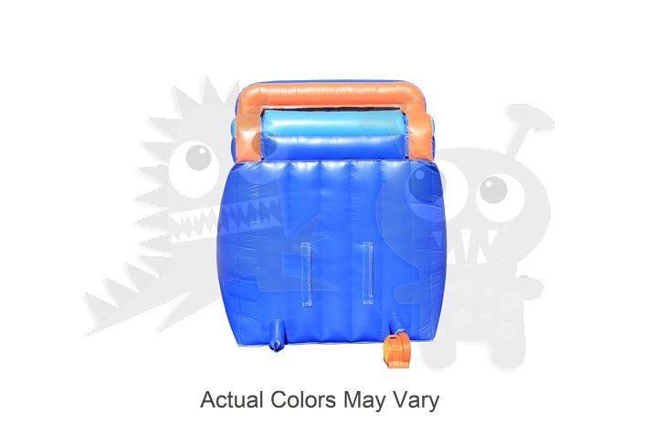 14' Orange & Blue Wet/Dry Slide Single Lane Commercial Inflatable For Sale
