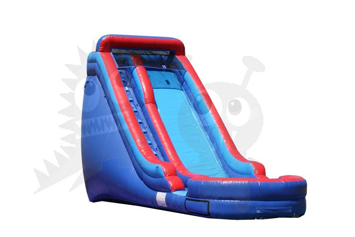 18' Blue Red Wet/Dry Inflatable Water Slide Commercial Inflatable For Sale