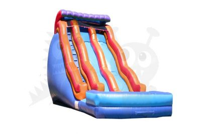 21' Double Wave Double Lane Wet/Dry Slide Commercial Inflatable For Sale