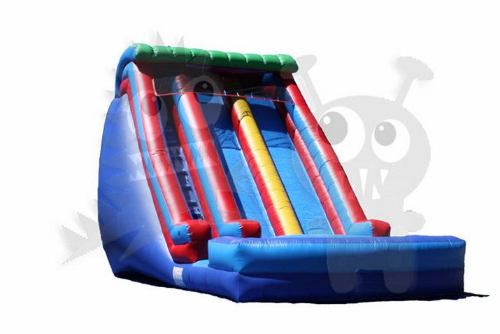 19' Double Wave Double Lane Wet/Dry Slide Commercial Inflatable For Sale