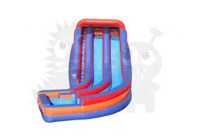 20' TWO LANE CURVE WET/DRY SLIDE COMMERCIAL INFLATABLE FOR SALE