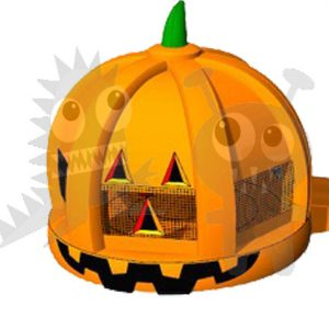 BOU-135 Inflatable Pumpkin Bounce House with Obstacles and Hoop Commercial Inflatable For Sale
