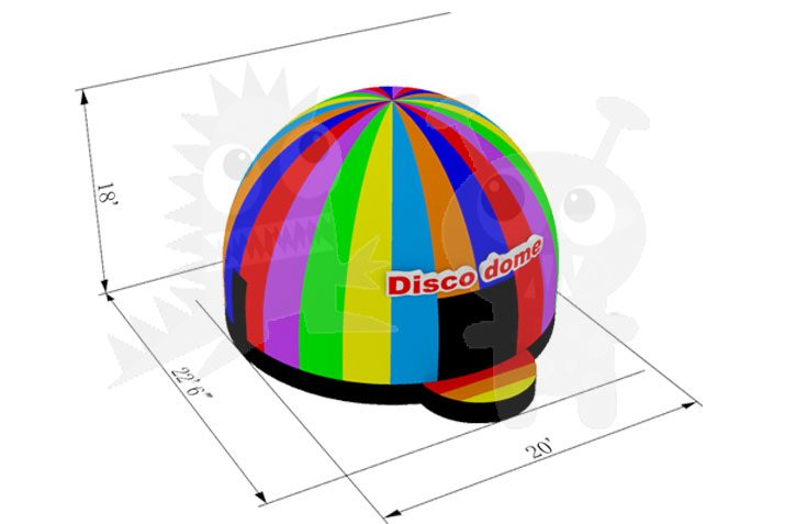 18' Inflatable Disco Dance Dome Commercial Inflatable For Sale