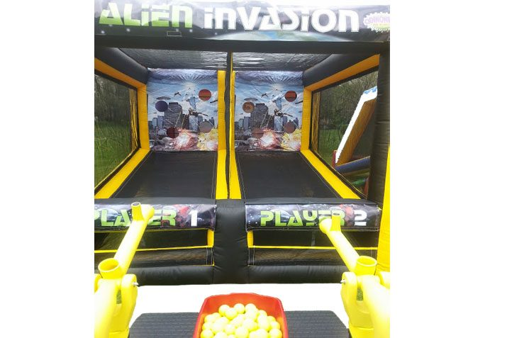 Alien Invasion Inflatable Interactive Game Commercial Inflatable For Sale