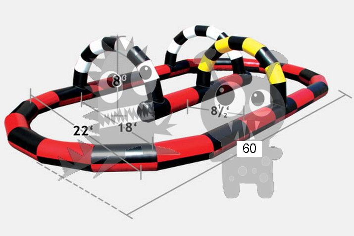 Inflatable Snake Pattern Race Track Commercial Inflatable For Sale