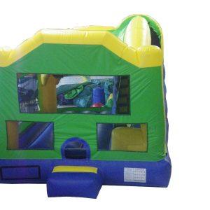 Blue Green Yellow Inflatable Jumper Bounce House Combo Commercial Inflatable For Sale