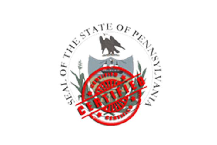 Pennsylvania Certified