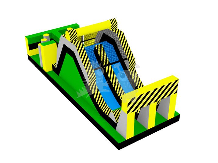 Toxic Escape Inflatable Hazardous Obstacle Course Slide Commercial Inflatable For Sale