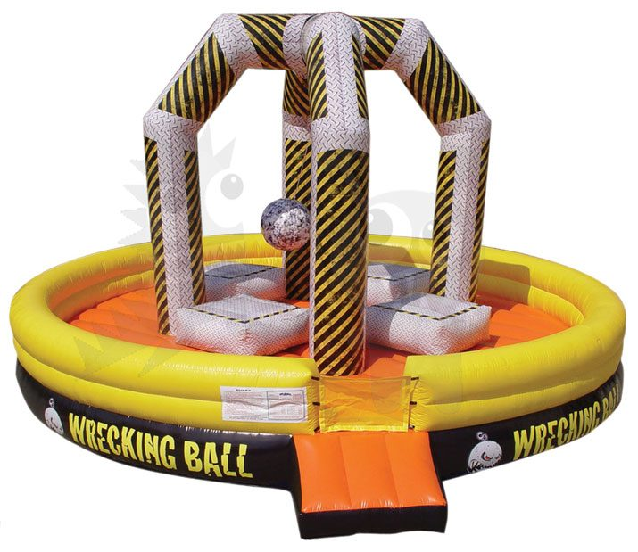 Inflatable Wrecking Ball Game 20' 25' Commercial Inflatable For Sale