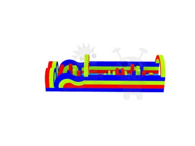 42' Commercial Inflatable Obstacle Course Without Slide Wet/Dry Commercial Inflatable For Sale
