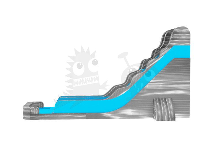 22' Grey Crush Grey Marble Wet/Dry Slide Slip and Slide with Detachable Pool Included Commercial Inflatable For Sale