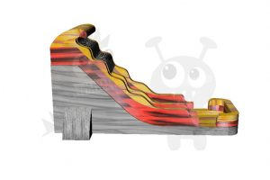 WAT-2718-Volcano 18′ Volcano Flame Wet/Dry Water Slide Commercial Inflatable For Sale