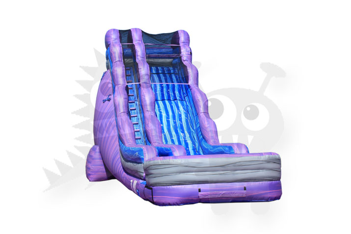 20' PURPLE MARBLE WET/DRY WATER SLIDE COMMERCIAL INFLATABLE FOR SALE