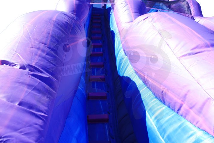 20' PURPLE MARBLE WET/DRY WATER SLIDE COMMERCIAL