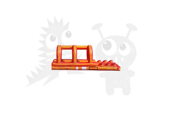 ORANGE MARBLE SLIP & SLIDE COMMERCIAL INFLATABLE FOR SALE