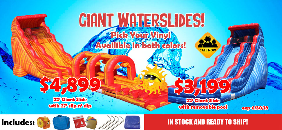 Commercial Grade Inflatable Slip and Slide For sale.
