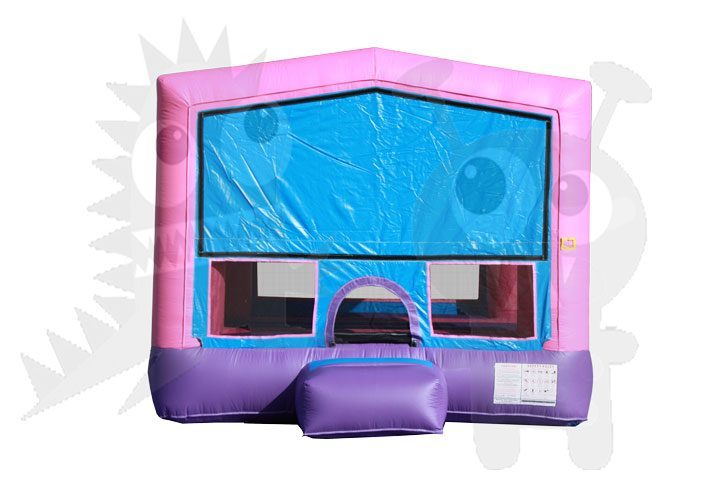 13x13 Pink/Purple Bounce House Jumper with Basketball Hoop Commercial Inflatable For Sale