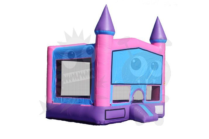 13x13 Pink/Purple Castle Bounce House Jumper with Basketball Hoop Commercial Inflatable For Sale