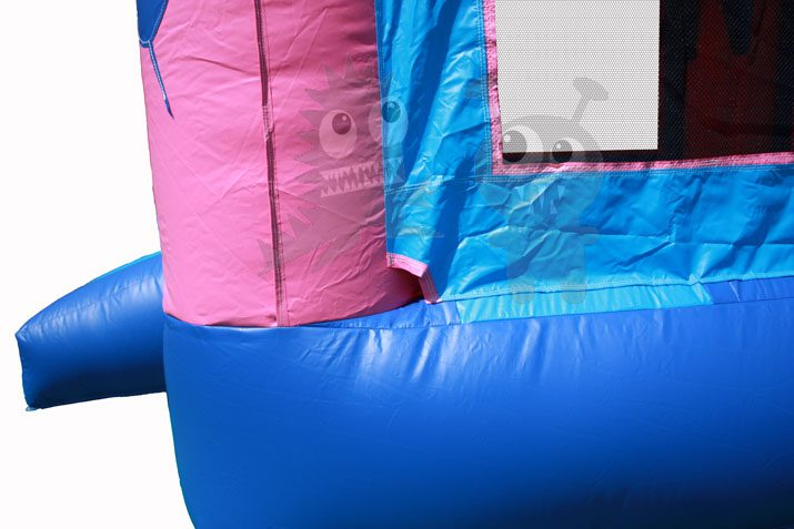 13x13 3-D Pink Birthday Cake Bounce House Jumper with Basketball Hoop Commercial Inflatable For Sale
