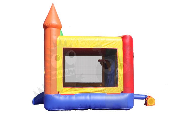 13x13 Red/Green/Yellow/Blue Castle Bounce House with Basketball Hoop Commercial Inflatable For Sale