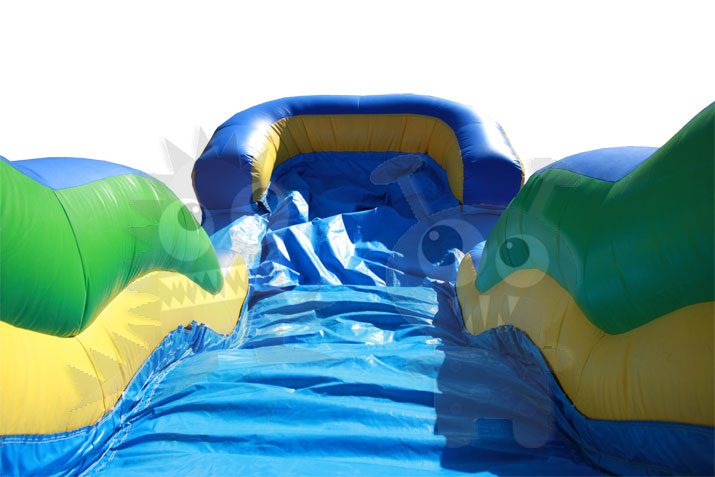 Tropical Palm Tree Bounce House Jumper Wet/Dry with Slide Pool and Basketball Hoop Commercial Inflatable For Sale