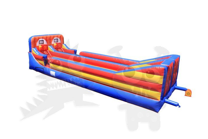 Inflatable Dual Lane Extreme Sports Bungee Run Hoop Shot Commercial Inflatable For Sale