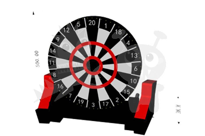 Inflatable Sports Interactive Foot Dart Game Commercial Inflatable For Sale