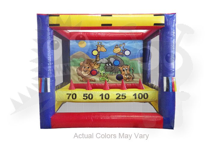 Commercial Grade Inflatable Knock It Off Archery Game Fun for All Ages, Interchangeable Art Panels