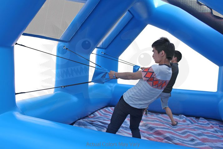 Inflatable Water Balloon Launcher Double Station Commercial Inflatable For Sale