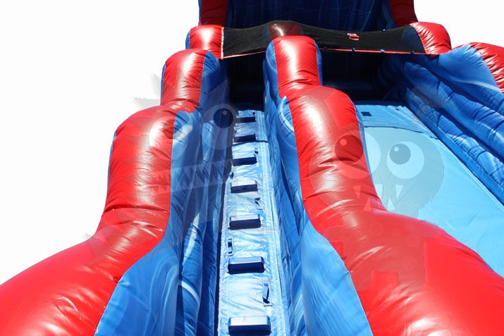 18' Tsunami Blue Marble Wet/Dry Slide Commercial Inflatable For Sale