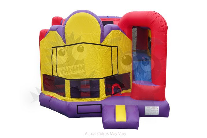 5-in-1 Colorful Combo with Slide, Climbing Wall, Obstacles, and Hoop Commercial Inflatable For Sale