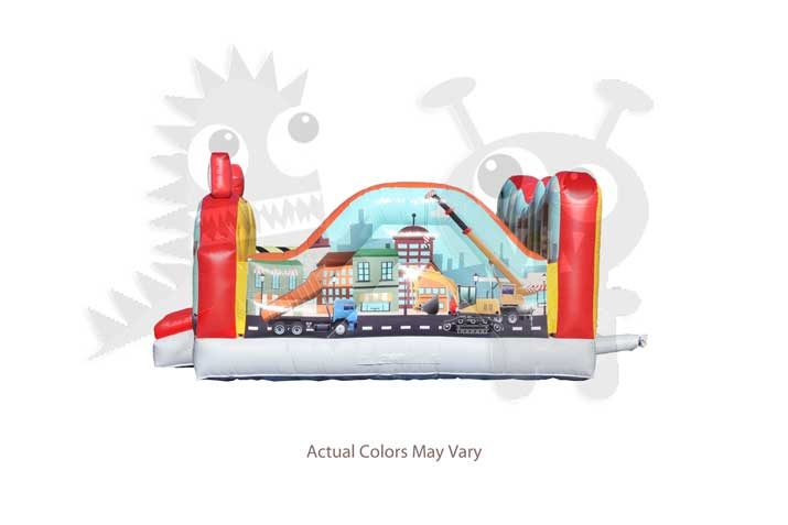 City Indoor Playground with Obstacles and Hoops Commercial Inflatable for Sale
