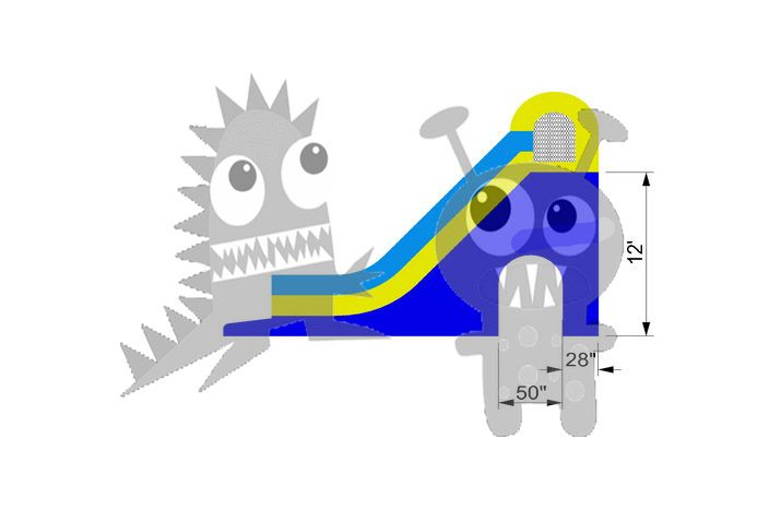 12' Inground Pool Tunnel Water Slide Wet/Dry Commercial Inflatable For Sale