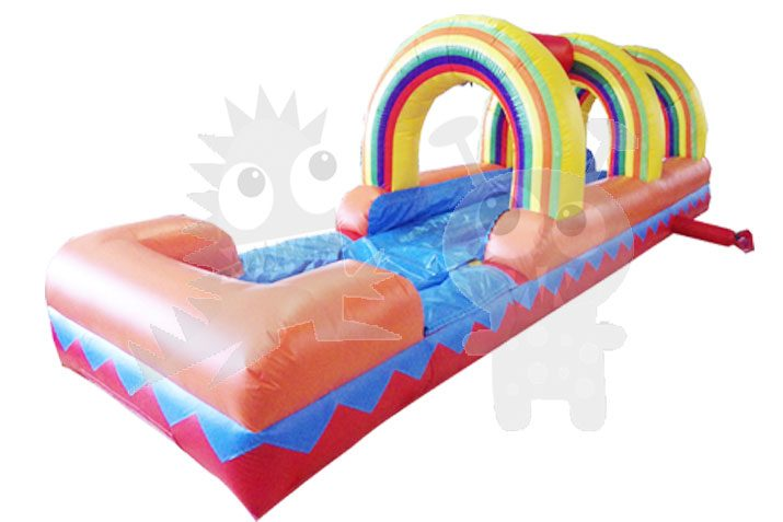 27' Multicolor Rainbow Inflatable Water Slip 'n Slide Commercial Inflatable For Sale