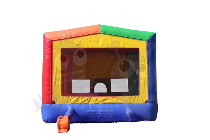 Multicolor Rainbow Circus Castle Inflatable Bounce House Jumper Commercial Inflatable For Sale