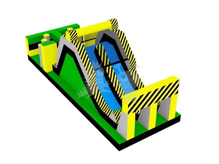 Toxic Escape Inflatable Hazardous Obstacle Course Slide Commercial Inflatable For Sale