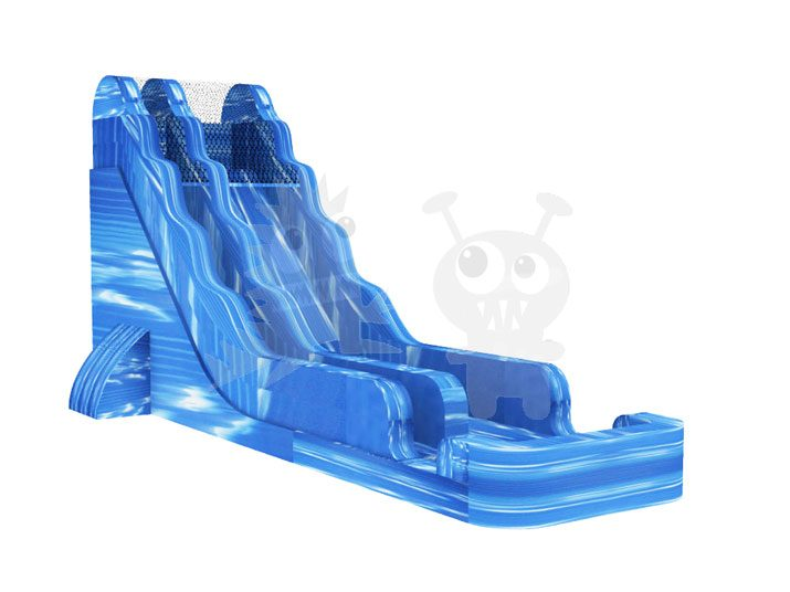 18' Blue Crush Water Slide Blue Marble Commerical Inflatable For Sale