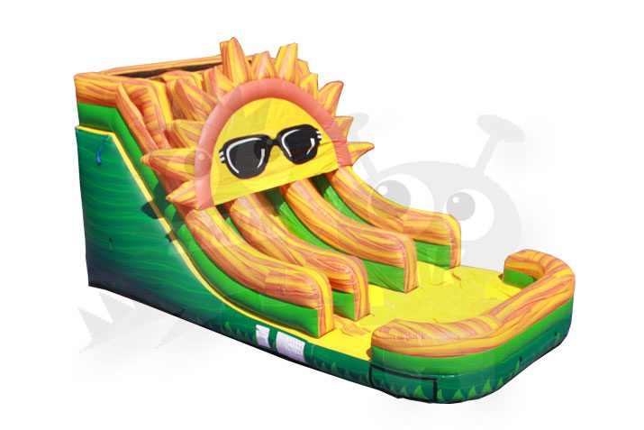 15' Junior Sun Double Lane Commercial Water Slide Commercial Inflatable For Sale